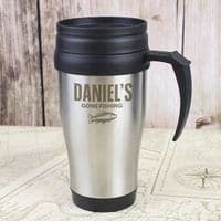 Personalised Fishing Travel Mug - ideal gift for Father's Day, Dad, Grandad, Fisherman, Christmas
